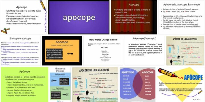 Meaning of Apocope